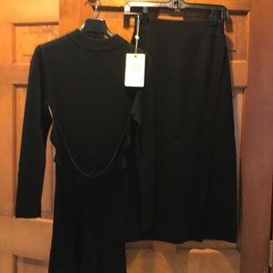 Wool tunic and skirt